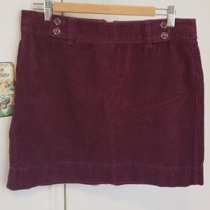 Loft corduroy skirt